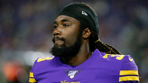 <p>               FILE - In this Oct. 24 2019, file photo, Minnesota Vikings running back Dalvin Cook walks on the field before an NFL football game against the Washington Redskins in Minneapolis. The Vikings have centered their offense around running back Dalvin Cook and praised him at every turn, but now the bill has come due. Cook is holding out of team activities until he has a new contract. (AP Photo/Bruce Kluckhohn, FIle)             </p>