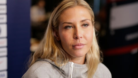 <p>               FILE - In this  Friday, May 24, 2019 file photo, Allie Long, a member of the United States women's national soccer team, speaks to reporters during a media day in New York.  Allie Long is likely the only National Women's Soccer League Player that launched a new career while sheltering at home. Long has been playing video games on Twitch and has built a solid reputation in the gaming world – so much so that she's been able to raise some serious money for charities, while also educating fellow gamers about women's soccer.(AP Photo/Seth Wenig, File)             </p>