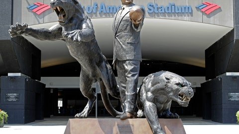 "<p>               FILE - In this July 10, 2018, file photo, a statue of former Carolina Panthers owner Jerry Richardson stands outside an entrance to Bank of America Stadium in Charlotte, N.C. The statue of former Carolina Panthers owner Jerry Richardson was removed from in front of the team's stadium, Wednesday, June 10, 2020. ""We were aware of the most recent conversation surrounding the Jerry Richardson statue and are concerned there may be attempts to take it down,"" the team said in a statement. ""We are moving the statue in the interest of public safety."" (AP Photo/Chuck Burton, FIle)             </p>"