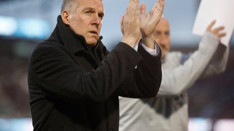 <p>               FILE - In this March 24, 2018, file photo, Sporting Kansas City's Peter Vermes acknowledges fans as he takes the pitch to lead his team against the Colorado Rapids in an MLS soccer match in Commerce City, Colo. Major League Soccer coaches are welcoming the opportunity to use five substitutes when play resumes in Florida next month, out of concern for both player fitness and the summertime heat. The adoption of the rule and the expansion of game-day rosters are especially important given the relatively short preparation time teams have had for the MLS Is Back Tournament, which starts July 8, 2020, at the sports complex at Walt Disney World. (AP Photo/David Zalubowski, File)             </p>