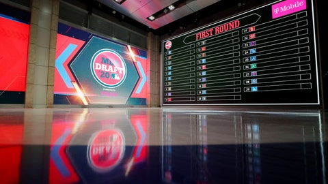<p>               In a photo provided by MLB Photos, the baseball draft board is seen Monday, June 8, 2020 in Secaucus, N.J., for Wednesday's draft. (Alex Trautwig/MLB Photos via AP)             </p>