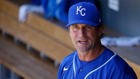 """<p>               FILE - In this March 9, 2020, file photo, Kansas City Royals manager Mike Matheny pauses in the dugout prior to a spring training baseball game against the Arizona Diamondbacks in Scottsdale, Ariz. Forget about those halcyon first few days of spring training, when arranging for the right tee time on the right golf course is often more challenging than the work on the field. When major leaguers report next week for spring training 2.0 — or perhaps more accurately, baseball's first summer camp — time will be one precious commodity with about three weeks before opening day. """"We're going to have some live batting practices the first day they show up. Day 1 and Day 2. ... Multiple ups for the starters,"""" Matheny said Friday, June 26, 2020, on a video conference call. """"These guys are prepared for that. They've been hungry for it."""" (AP Photo/Ross D. Franklin, File)             </p>"""