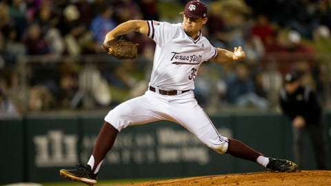 <p>               FILE - In this Feb. 14, 2020, file photo, Texas A&M's Asa Lacy (35) throws a strike against a Miami (Ohio) batter during an NCAA baseball game in College Station, Texas. Detroit has a chance to add another potential standout when it makes the No. 1 selection in Wednesday night's draft. Lacy is a possible top pick in the Major League Baseball draft. (AP Photo/Sam Craft, File)             </p>