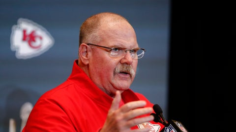 <p>               FILE - In this Jan. 30, 2020, file photo, Kansas City Chiefs NFL football head coach Andy Reid speaks during a news conference in Aventura, Fla. In seven weeks, the NFL expects to kick off its 101st season with the Super Bowl champion Chiefs hosting Houston. Emphasis on expects (AP Photo/Brynn Anderson, File)             </p>