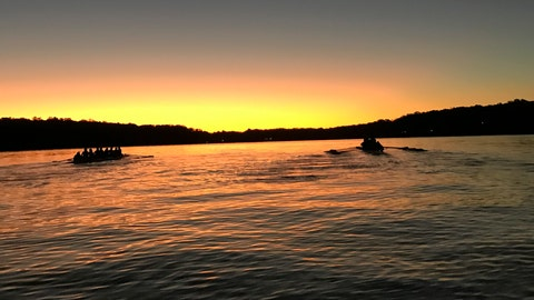 <p>               The UConn women's rowing team works out on Wangumbaug Lake in this September 2019 photo taken in Coventry Lake, Conn. The school's decision to cut the program is designed to help cut by $10 million the school's $43 million athletic department deficit as it deals with falling revenue during the COVID-19 pandemic. (Jen Sanford via AP)             </p>