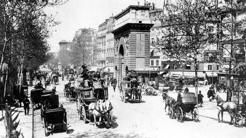 <p>               FILE - This 1900 file photo shows the eastern part of a busy boulevard in Paris, France in the year 1900. No opening ceremony. No closing ceremony. And many of the athletes at the 1900 Paris Games had no idea they even competed at the Olympics. But the second edition of the Olympics had female athletes competing for the first time. (AP Photo/File)             </p>
