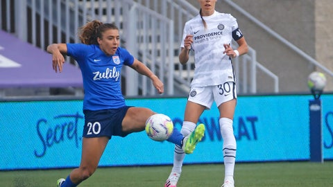 <p>               OL Reign forward Sofia Huerta (20) controls the ball as Portland Thorns midfielder Celeste Boureille (30) defends during the first half of an NWSL Challenge Cup soccer match at Zions Bank Stadium Monday, July 13, 2020, in Herriman, Utah. (AP Photo/Rick Bowmer)             </p>