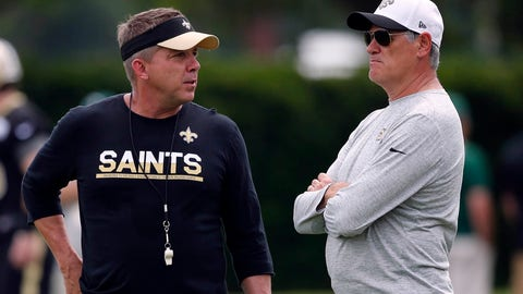 <p>               FILE - In this Thursday, May 26, 2016 file photo, New Orleans Saints head coach Sean Payton, left, talks with general manager Mickey Loomis during NFL football practice in Metairie, La. Saints general manager Mickey Loomis says unusual circumstances surrounding this pandemic-altered NFL season haven't changed high expectations; the Saints seek a fourth-straight playoff appearance. Loomis says it's an advantage that he and coach Sean Payton have worked together since 2006 and that there has been little turnover on the staff or roster recently. Loomis spoke Tuesday, July 28, 2020. (AP Photo/Gerald Herbert, File)             </p>