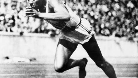 <p>               FILE - In this Aug. 14, 1936, file photo, American sprint star Jesse Owens is shown in action during one of the heats of the 200-meter run in Berlin. He won the final with a new Olympic record of 20.7 seconds. (AP Photo/File)             </p>