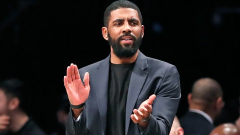 """<p>               FILE - In this Tuesday, Jan. 7, 2020, file photo, injured Brooklyn Nets guard Kyrie Irving applauds his teammates from the bench during the first half of an NBA basketball game against the Oklahoma City Thunder, in New York. Irving is joining rapper Common and others for a TV special calling for action following the death of Breonna Taylor. Irving is producing """"#SAYHERNAME: BREONNA TAYLOR,"""" which will debut Wednesday, July 8, 2020, at 7 p.m. EDT on the PlayersTv digital and broadcast network.(AP Photo/Kathy Willens, File)             </p>"""