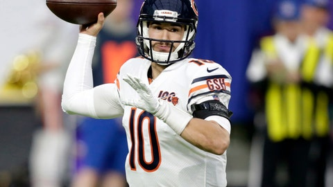 <p>               FILE - In this Dec. 29, 2019, file photo, Chicago Bears quarterback Mitchell Trubisky (10) throws a pass during the first half of an NFL football game against the Minnesota Vikings in Minneapolis. Trubisky insists he is one motivated quarterback. He comes into a make-or-break season locked in a competition with former Super Bowl MVP Nick Foles for the Bears' quarterback job, knowing his future as a starter in Chicago and maybe anywhere else is on the line. (AP Photo/Andy Clayton-King, File)             </p>
