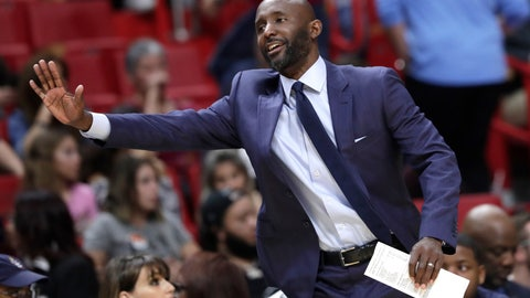 <p>               FILE - In this Dec. 10, 2019, file photo, Atlanta Hawks' Lloyd Pierce watches during the first half of an NBA basketball game against the Miami Heat in Miami. Pierce isn't at the NBA restart at Walt Disney World — the Hawks aren't among the 22 teams still playing this season — but he's been active on regular league-wide coaches Zoom calls and leads a committee of coaches tasked with how those in the NBA can best aid the societal-change movement.  (AP Photo/Lynne Sladky, File)             </p>