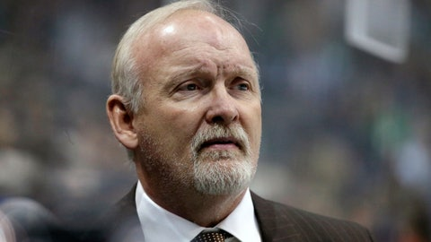 <p>               FILE - In this Jan. 14, 2017, file photo, then-Dallas Stars head coach Lindy Ruff watches play against the Minnesota Wild in the first period of an NHL hockey game in Dallas. A person with knowledge of the talks tells The Associated Press that the New Jersey Devils are hiring veteran coach Lindy Ruff to take over one of the NHL's youngest teams and removing the interim tag off Tom Fitzgerald's title as general manager.  (AP Photo/LM Otero, File)             </p>