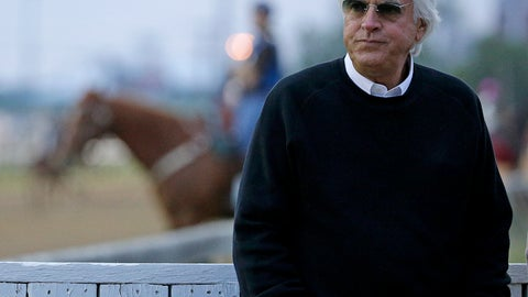 <p>               FILE - In this May 3, 2016, file photo, trainer Bob Baffert watches a workout at Churchill Downs in Louisville, Ky. The first Saturday in May is usually the first leg of horse racing's Triple Crown. But the Kentucky Derby won't be run in May for the first time since 1945, instead pushed back four months to Labor Day weekend. (AP Photo/Charlie Riedel, File)             </p>