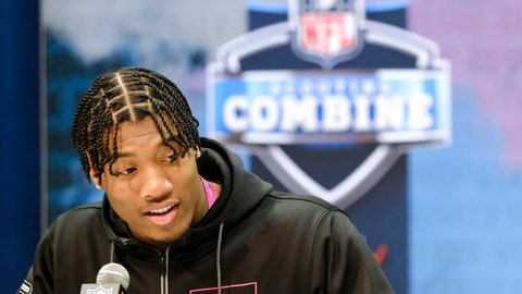 <p>               FILE - In this Feb. 27, 2020, file photo, Clemson linebacker Isaiah Simmons speaks during a press conference at the NFL football scouting combine in Indianapolis. Arizona Cardinals coach Kliff Kingsbury has raved about the Clemson star's versatility since he surprisingly landed in the desert after falling to the No. 8 overall selection. (AP Photo/AJ Mast, File)             </p>