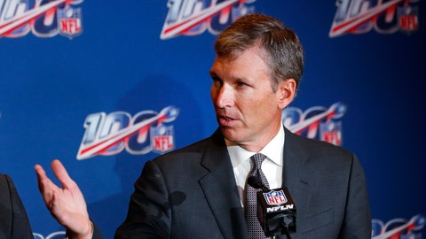 <p>               FILE- In this Oct. 15, 2019, file photo, Dr. Allen Sills, the NFL's chief medical officer, speaks during a news conference at the at the football league's fall meeting in Fort Lauderdale, Fla. The NFL's chief medical officer says it's not surprising there have been positive tests for COVID-19 among players reporting to training camp because the disease is cutting across football just as it has through societies around the world. Players currently have to pass COVID-19 testing before they are allowed into training camp. (AP Photo/Wilfredo Lee, File)             </p>