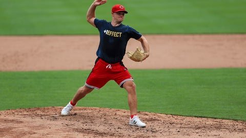 <p>               Cincinnati Reds' Sonny Gray participates in baseball practice at Great American Ballpark in Cincinnati, Wednesday, July 8, 2020. (AP Photo/Aaron Doster)             </p>