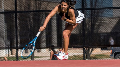 <p>               In this undated photo provided by Southern Utah Athletics, Ghita Nassik hits the ball during tennis practice at Southern Utah University in Cedar City, Utah. Southern Utah announced June 23, 2020, it was eliminating its men's and women's tennis programs effective immediately due to budget cuts brought on by the coronavirus pandemic. (Joey DeGraaf/Southern Utah Athletics  via AP)             </p>