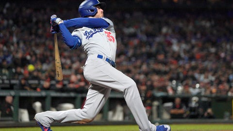 <p>               FILE - This Sept. 27, 2019, file photo shows Los Angeles Dodgers' Cody Bellinger (35) getting a hit against the San Francisco Giants during a baseball game in San Francisco. Bellinger was well on his way to becoming the National League MVP only 60 games into last season for the Los Angeles Dodgers, already with 20 homers in that stretch before his 24th birthday. (AP Photo/Tony Avelar, File)             </p>