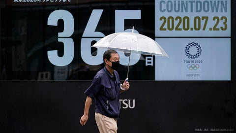 <p>               A man wearing a mask against the spread of the new coronavirus walks in front of a countdown calendar showing 356 day to start Tokyo 2020 Olympics Thursday, July 23, 2020, in Tokyo. The postponed Tokyo Olympics have again reached the one-year-to-go mark. But the celebration is small this time with more questions than answers about how the Olympics can happen in the middle of a pandemic. That was before COVID-19 postponed the Olympics and pushed back the opening to July 23, 2021. (AP Photo/Eugene Hoshiko)             </p>