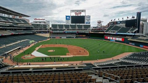 <p>               The Minnesota Twins run drills on Target Field at a baseball camp iMonday, July 6, 2020, in Minneapolis. (AP Photo/Bruce Kluckhohn)             </p>