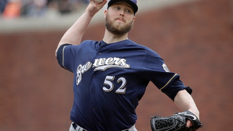 <p>               FILE - In this Saturday, June 15, 2019 file photo, Milwaukee Brewers pitcher Jimmy Nelson (52) throws to a San Francisco Giants batter during the second inning of a baseball game in San Francisco. Right-hander Jimmy Nelson and the Los Angeles Dodgers agreed Tuesday, Jan. 7, 2020 to a $1.25 million, one-year contract, an incentive-laden deal that could be worth $13.25 million over two seasons. In what's become a familiar refrain, the Dodgers arrive at camp still looking for their first World Series championship since 1988. After losing in two straight World Series, they were ousted by Washington in five games in the NL Division Series last fall. (AP Photo/Jeff Chiu, File)             </p>