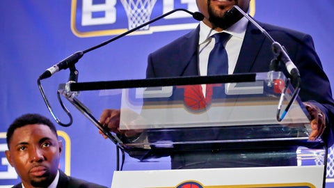 <p>               FILE - In this Jan. 11, 2017, file photo, former NBA player and players union deputy Roger Mason, left, listens as entertainer Ice Cube, right, announces the launch of the BIG3, a new 3-on-3 professional basketball league, in New York. Hundreds of sports-related businesses got in line for the government-funded Payroll Protection Plan designed to cushion the economic impact of the COVID-19 pandemic. None of the four North American major sports leagues — the NFL, NBA, NHL and Major League Baseball — applied, but both Major League Soccer and the National Women's Soccer League were represented. Rapper Ice Cube's 3-on-3 basketball league says it returned almost half of the $1.6 million it received, but givebacks were rare. (AP Photo/Bebeto Matthews, File)             </p>