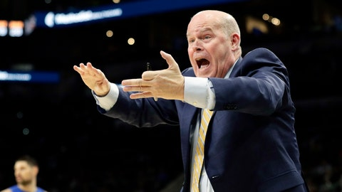 <p>               FILE - In this Feb. 29, 2020, file photo, Orlando Magic head coach Steve Clifford argues a call during the second half of an NBA basketball game against the San Antonio Spurs in San Antonio. The Magic enter the NBA restart trying to clinch an Eastern Conference playoff berth. (AP Photo/Eric Gay, File)             </p>