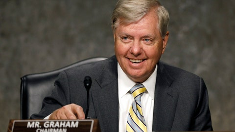 <p>               Senate Judiciary Committee chairman Sen. Lindsey Graham, R-S.C., takes his seat, Wednesday, July 22, 2020, during a Senate Judiciary Committee hearing to examine protecting the integrity of college athletics, on Capitol Hill in Washington. (AP Photo/Jacquelyn Martin)             </p>