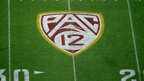 <p>               FILE - This Aug. 29, 2019, file photo shows the Pac-12 logo at Sun Devil Stadium during the second half of an NCAA college football game between Arizona State and Kent State in Tempe, Ariz. The Pac-12 has become the second major conference to shift to a conference-only fall schedule amid growing concerns over the coronavirus pandemic. (AP Photo/Ralph Freso, File)             </p>