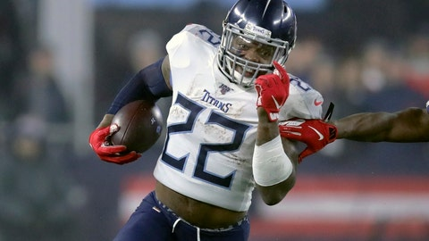 <p>               FILE - In this Saturday, Jan 4, 2020, file photo, Tennessee Titans running back Derrick Henry runs against the New England Patriots in the first half of an NFL wild-card playoff football game, in Foxborough, Mass. The Titans face a deadline Wednesday afternoon, July 15, 2020, of reaching an extension with NFL rushing leader Derrick Henry or let him play this season under the franchise tag he signed in April. (AP Photo/Charles Krupa, File)             </p>