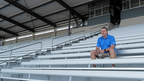 <p>               Mick Hoffman, executive director of the Washington Interscholastic Activities Association, poses for a photo, Thursday, July 16, 2020, sitting in the empty stands of the Renton School District's Renton Memorial Stadium, which is used for high school football, soccer, and track events in Renton, Wash. Hoffman and other administrators across the country are facing difficult decisions regarding the overwhelming uncertainty of whether high school sports can go forward this fall as the clock ticks closer to the start of the 2020-21 school year with little clarity in place for an obvious and safe path moving forward for athletics. (AP Photo/Ted S. Warren)             </p>