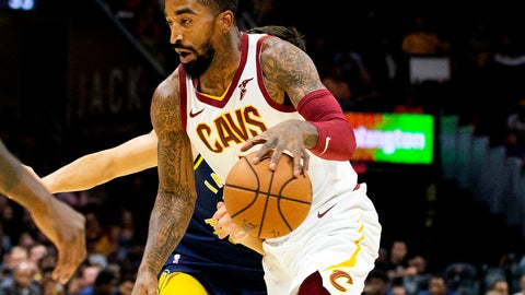 <p>               FILE - In this Oct. 8, 2018, file photo, Cleveland Cavaliers guard J.R. Smith dribbles to the basket during the first quarter of a preseason NBA basketball game against the Indiana Pacers in Cleveland. J.R. Smith has joined LeBron James and the Los Angeles Lakers for their championship push. The Lakers announced their long-anticipated signing of Smith as a substitute player on Wednesday, July 1, 2020, the first day allowed under the rules of the NBA's summer restart. (AP Photo/Scott R. Galvin, File)             </p>