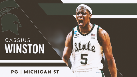 27. New York Knicks (via LAC) — Cassius Winston, PG, Michigan State (NR)