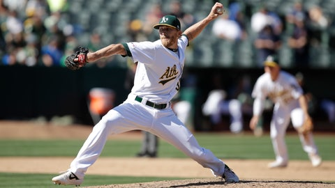 <p>               FILE: In this Sept. 5, 2019, file photo, Oakland Athletics pitcher Jake Diekman works against the Los Angeles Angels during a baseball game in Oakland, Calif. Diekman has serious questions about Major League Baseball's ability to pull off a season given the issues everywhere getting timely test results, forcing delays and cancellations of workouts. For now, Diekman still plans to play. He must be extra careful given he has the autoimmune condition ulcerative colitis. (AP Photo/Ben Margot, File)             </p>