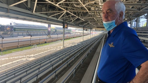 <p>               Roger Penske looks over the track from the grandstand at Indianapolis Motor Speedway in Indianapolis, Thursday, July 2, 2020. Penske has spent the six months since he bought Indianapolis Motor Speedway transforming the facility. He's spent millions on capital improvements to the 111-year-old national landmark and finally gets to showcase some of the upgrades this weekend as NASCAR and IndyCar share the venue in a historic doubleheader. (AP Photo/Jenna Fryer)             </p>