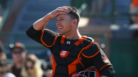 <p>               FILE - In this Monday, Feb. 24, 2020, file photo, San Francisco Giants catcher Buster Posey wipes sweat from his forehead during the first inning of a spring training baseball game against the Arizona Diamondbacks in Scottsdale, Ariz. Posey is the latest big-name player to skip this season because of concerns over the coronavirus pandemic. Posey announced his decision on Friday, July 10, 2020. He says his family finalized the adoption of identical twin girls this week. The babies were born prematurely and Posey said after consultations with his wife and doctor he decided to opt out of the season. (AP Photo/Ross D. Franklin, File)             </p>
