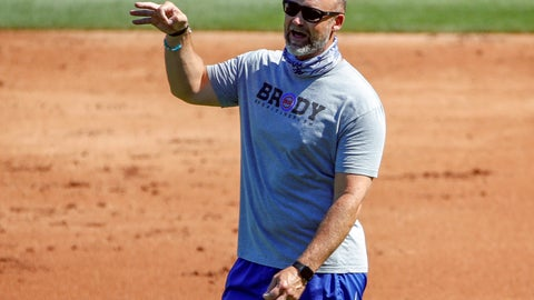 <p>               FILE - In this Friday, July 3, 2020, file photo, Chicago Cubs manager David Ross gestures during baseball practice at Wrigley Field in Chicago. Ross was already stepping into some big shoes when he agreed to replace Joe Maddon as manager of the Cubs. Then the coronavirus pandemic hit. Now Ross is a first-year skipper trying to guide his team through a brand new experience full of testing and protocols and an unforgiving 60-game season. How well he navigates the unprecedented situation is an important slice of the Cubs' hopes for returning to the playoffs. (AP Photo/Kamil Krzaczynski, File)             </p>