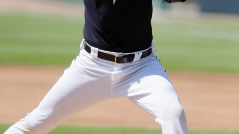 <p>               Detroit Tigers' Michael Fulmer pitches from the mound during baseball training camp at Comerica Park, Friday, July 3, 2020, in Detroit. (AP Photo/Duane Burleson)             </p>