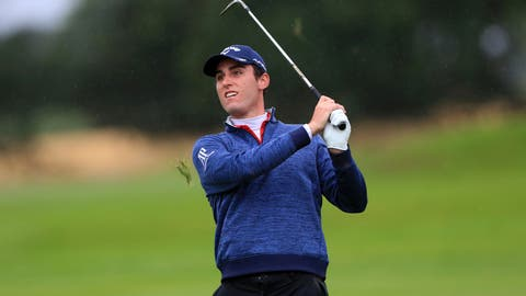 <p>               Italy's Renato Paratore on the 3rd during day two of the British Masters golf tournament at Close House Golf Club near Newcastle, England, Thursday July 23, 2020. The European Tour resumed after its pandemic-induced shutdown, with social distancing among the special measures for the British Masters. (Mike Egerton/PA via AP)             </p>
