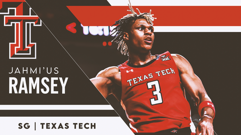 22. Philadelphia 76ers (via OKC) — Jahmi'us Ramsey, SG, Texas Tech (22)