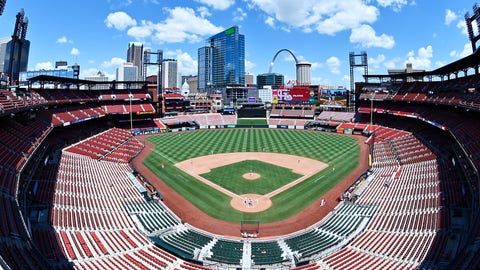 Jul 12, 2020; St. Louis, Missouri, United States; A view of Busch Stadium during a St. Louis Cardinals simulated game. Mandatory Credit: Jeff Curry-USA TODAY Sports