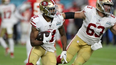 <p>               FILE - In this Feb. 2, 2020 file photo, San Francisco 49ers running back Raheem Mostert (31) rushes against the Kansas City Chiefs at Super Bowl 54  in Miami Gardens, Fla. Working out a new contract with the San Francisco 49ers wasn't the only thing Raheem Mostert had to do before deciding whether to play football this season. There was a much more important family matter to deal with as well. (AP Photo/Gregory Payan, File)             </p>