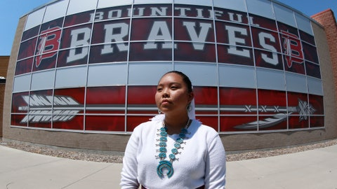 <p>               Lemiley Lane, a Bountiful junior who grew up in the Navajo Nation in Arizona, poses for a photograph at Bountiful High School, July 21, 2020, in Bountiful, Utah. While advocates have made strides in getting Native American symbols and names changed in sports, they say there's still work to do mainly at the high school level, where mascots like Braves, Indians, Warriors, Chiefs and Redskins persist. (AP Photo/Rick Bowmer)             </p>