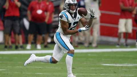 <p>               FILE - In this Sept. 22, 2019, file photo, Carolina Panthers wide receiver D.J. Moore (12) pulls in a touchdown catch against the Arizona Cardinals during the first half of an NFL football game in Glendale, Ariz. The Panthers want more out of third-year receiver D.J, Moore. Moore is coming off a solid season a year ago with 87 receptions for 1,175 receiving yards and four touchdowns, averaging 13.5 yards per catch. But the team feels he can be their No. 1 receiver.(AP Photo/Ross D. Franklin, File)             </p>
