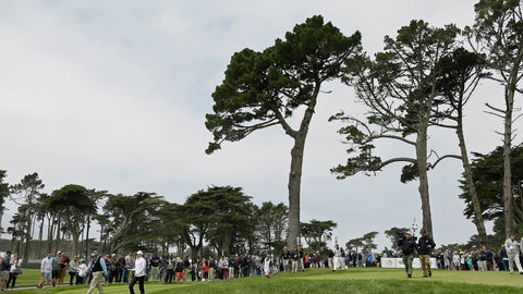 <p>               FILE - In this  Saturday, May 2, 2015 file photo, Rory McIlroy, left, of Northern Ireland, and Hideki Matsuyama, right, of Japan, make their way down the fairway after hitting from the eighth tee of TPC Harding Park at the Match Play Championship in San Francisco. Harding Park hosts the PGA Championship on Aug. 6-9, the first major without spectators.  (AP Photo/Eric Risberg, File)             </p>