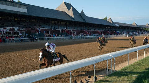 <p>               Tiz the Law (6), with Manny Franco up, wins the Travers Stakes horse race at Saratoga, Saturday, Aug. 8, 2020, in Saratoga Springs, N.Y. (Stacey Heatherington/NYRA via AP)             </p>