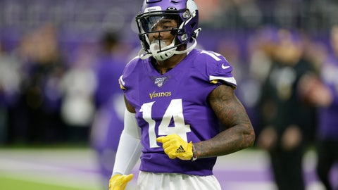 <p>               FILE - In this Sunday, Dec. 29, 2019 file photo, Minnesota Vikings wide receiver Stefon Diggs runs on the field before an NFL football game against the Chicago Bears in Minneapolis. Stefon Diggs is getting his new beginning with the Buffalo Bills, and he isn't dwelling on his acrimonious departure from the Minnesota Vikings. (AP Photo/Andy Clayton-King, File)             </p>