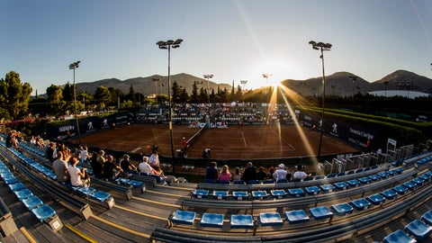 <p>               A view of the central court during Palermo Ladies Open tennis tournament in Palermo, Italy, Thursday, Aug. 6, 2020. Tour-level tennis resumed after a five-month enforced break and players at the Palermo Ladies Open had to handle their own towels and not shake hands of opponents. The strict rules because of the coronavirus included no showers on site, and no autographs or photos with fans. Players in the singles main draw come from 15 countries, all in Europe. (Palermo Ladies Open via AP)             </p>