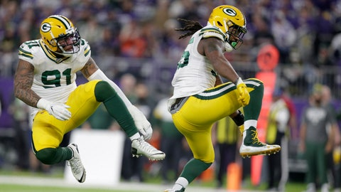 <p>               FILE - In this Monday, Dec. 23, 2019, file photo, Green Bay Packers outside linebacker Za'Darius Smith, right, celebrates with teammate Preston Smith after sacking Minnesota Vikings quarterback Kirk Cousins during the second half of an NFL football game in Minneapolis. Za'Darius Smith and Preston Smith aren't related, but the Packers pass rushers share the same last name and the same type of productive games. They combined for 25 ½ sacks last season after both signed with the Packers as free agents in early 2019. (AP Photo/Andy Clayton-King, File)             </p>